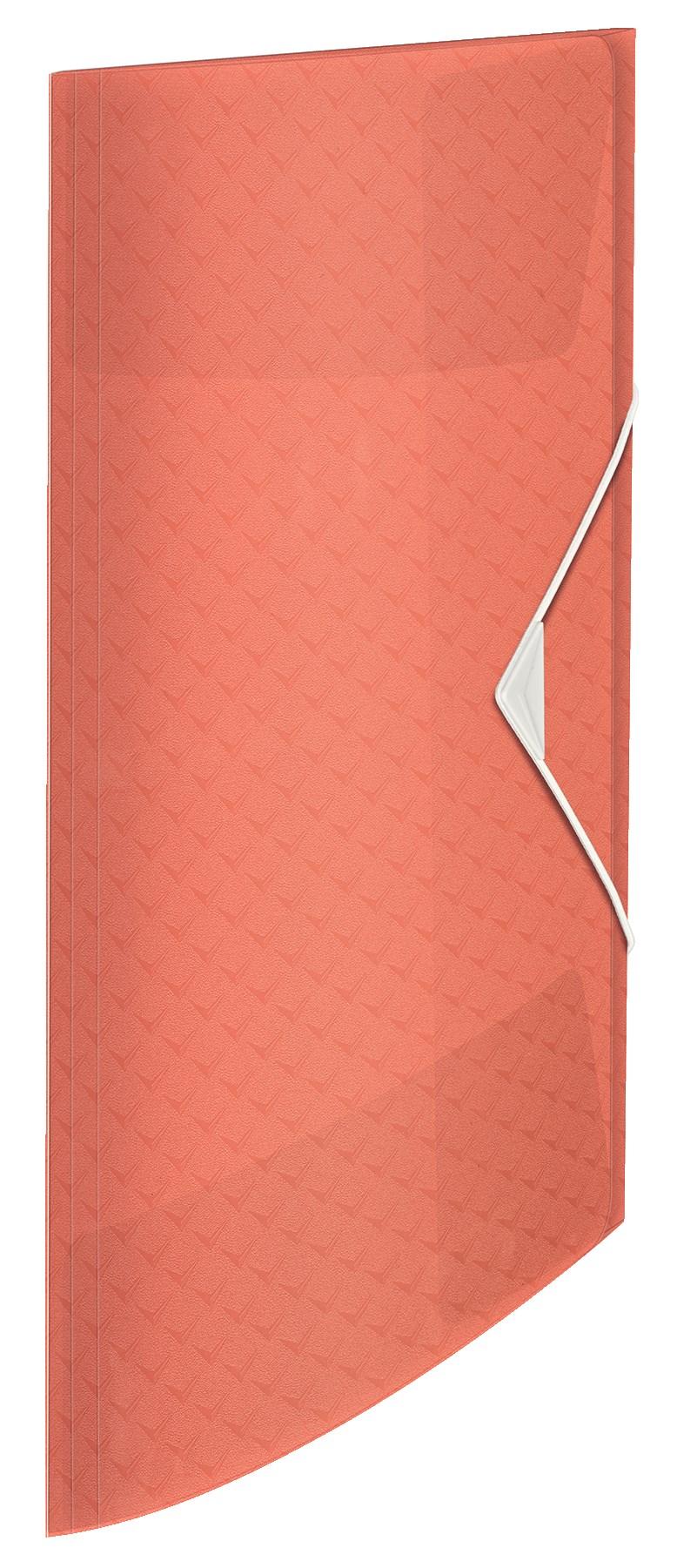3-klap elastikmappe Colour\'Ice PP A4 abrikos